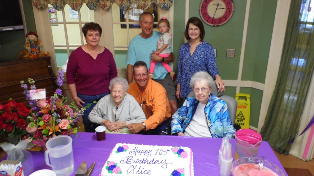 It is a great privilege to have the honor and blessing of serving people like Alice Nichols, who has just celebrated her 105th birthday.     — Bill Pierce, President, Baptist Village Communities